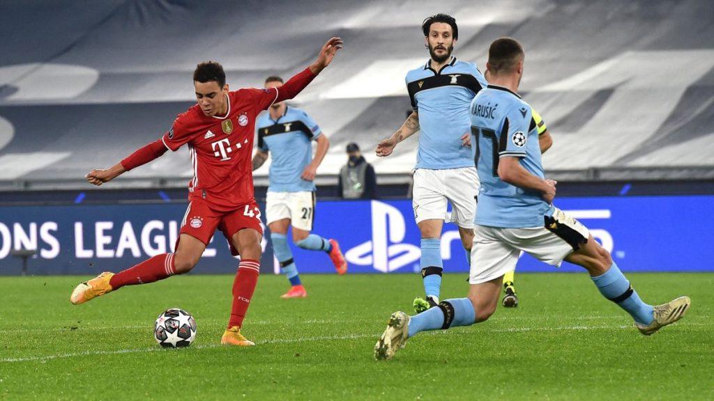 Лацио не удалось показать свою игру, поэтому Бавария выглядела на голову сильнее